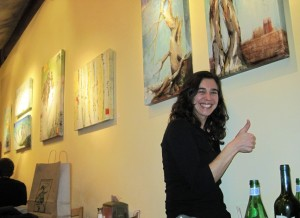 Infamous local artist Lisa Issenberg made an appearance and stayed the entire opening.