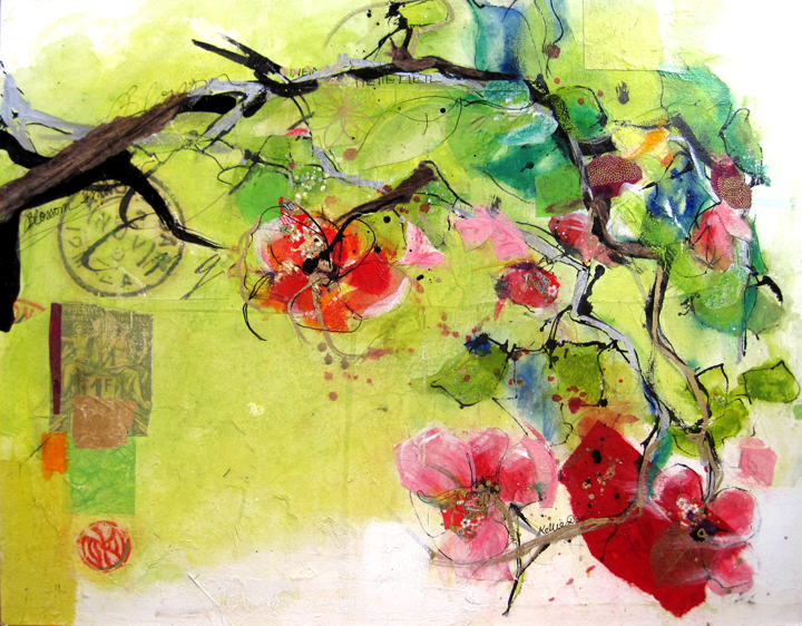 Infinite Blossom A Spring Flower Painting By Kellie Day