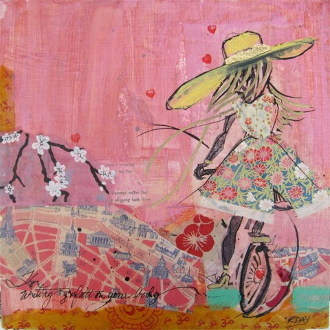Graffiti on Your Body, pink bike painting © Kellie Day