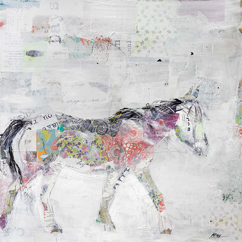 Wild Pinto, mixed media on canvas, 36