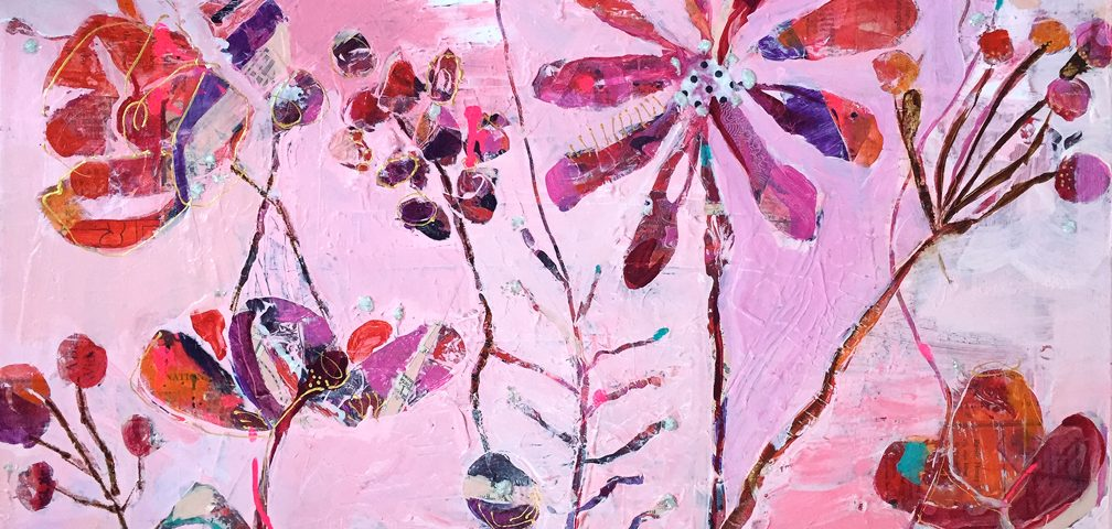 """""""Wild in the Woods"""", 30"""" x 24"""", mixed media on canvas, ©Kellie Day, available"""
