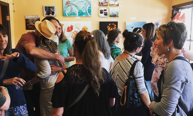Opening night party at Mountain Girl Gallery in Ridgway, CO