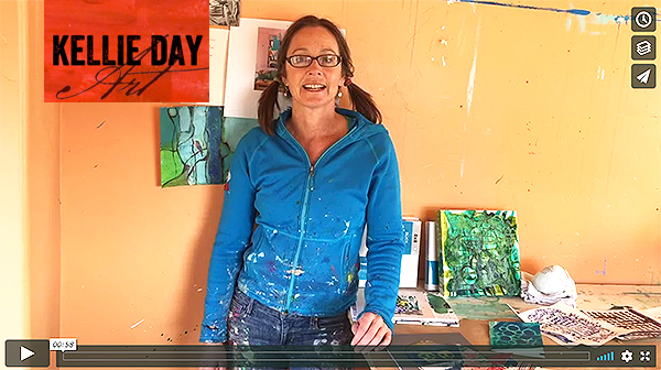 midweek painting inspiration - outtakes video from Kellie Day