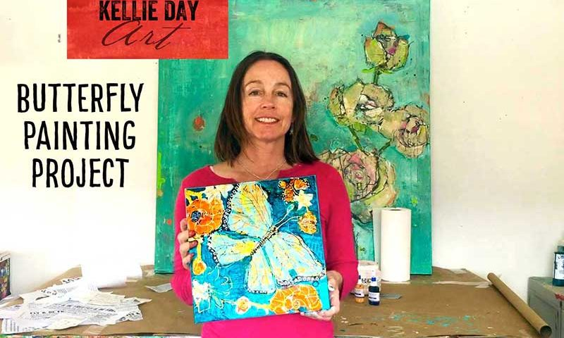 butterfly painting class with kellie day