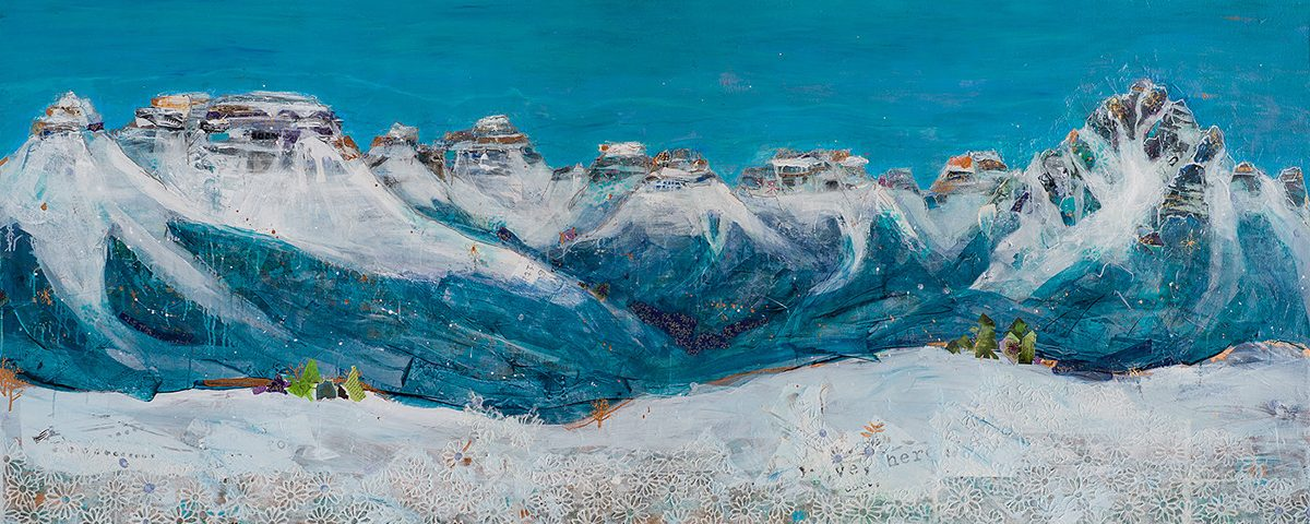 painting of the Sneffels ridge of the San Juan Mountains by Kellie Day