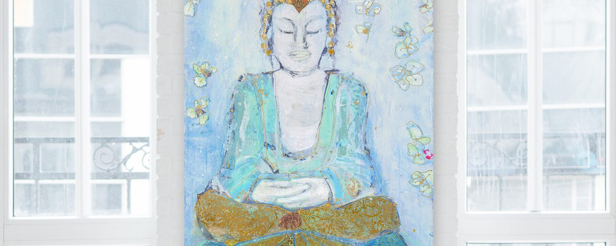 BUddha painting by Kellie Day,