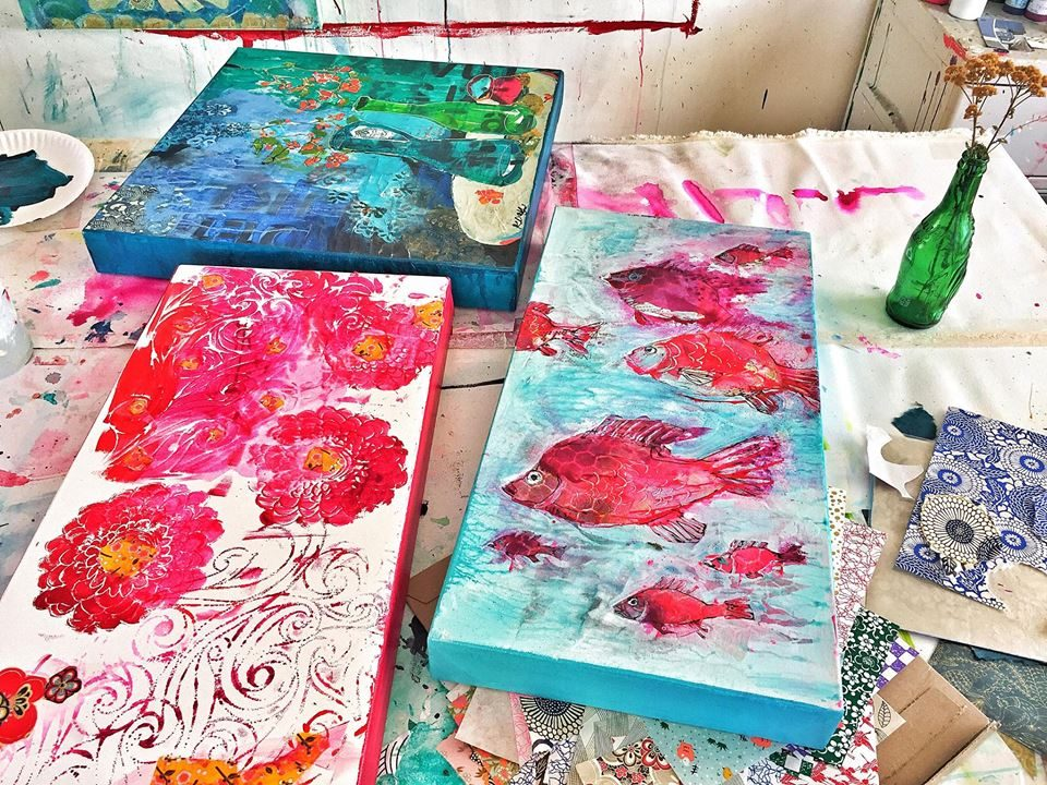 Kellie Day's studio table