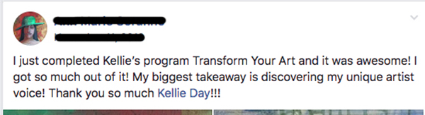 transform Your art - kellie day