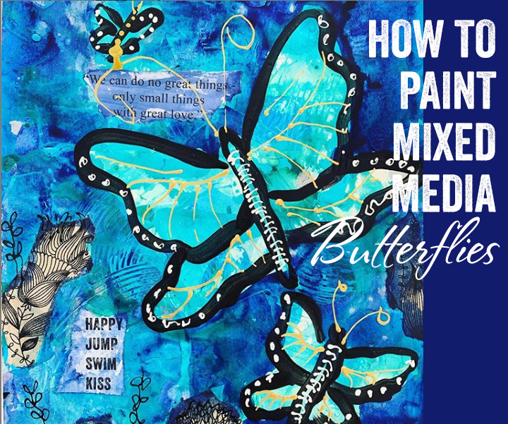 how-to-paint-mixed-media-butterflies
