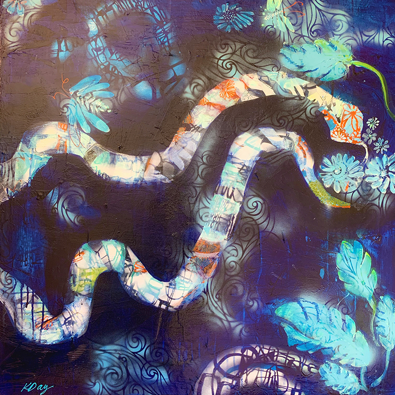 Snake Den painting by Kellie Day