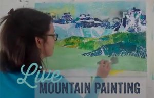 live mountain painting with kellie day