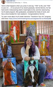 art mentor kellie day helps students get ready for their first show