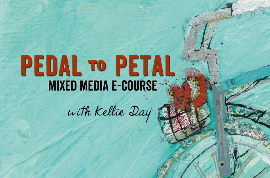 Pedal to Petal Mixed Media e-Course, a Field Trip to Inspiration!