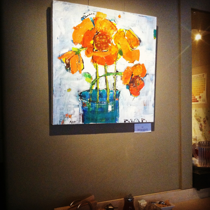 My spring art exhibit at Eno Cafe in Durango