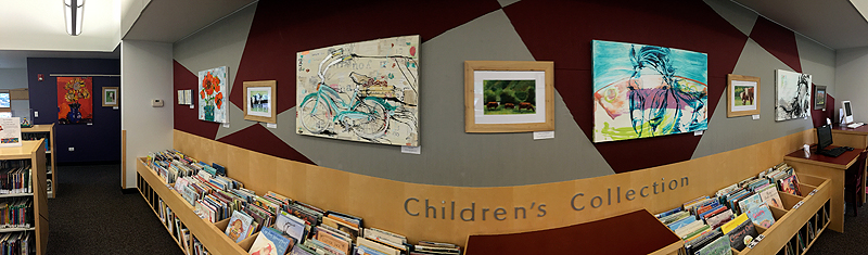 A glimpse at the Day Family Art exhibit at the Ridgway Public Library