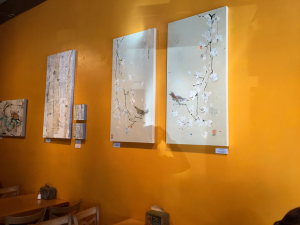 The Bird Family and snowy aspens are featured at La Cocina de Luz, on the main street of Telluride through May