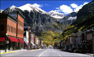 The main street of Telluride, Colorado
