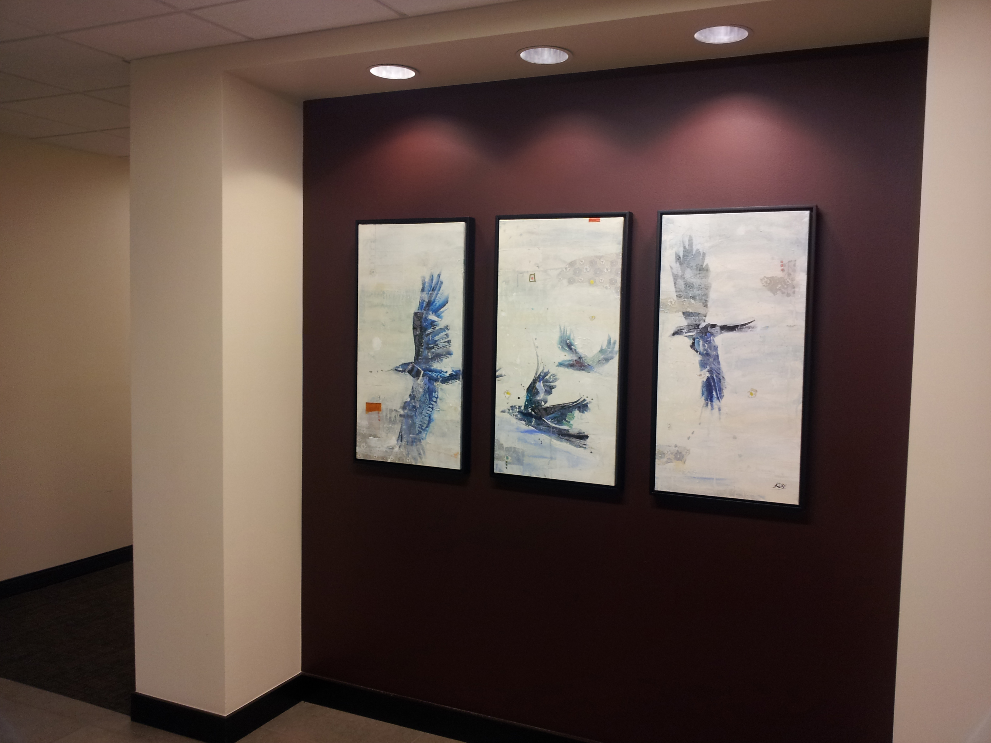 Corporate art installation by Kellie Day at Catholic Health Initiatives, Englewood CO